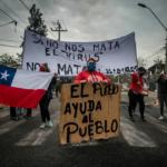 Protestas en La Pintana, Santiago. Fotografía Nicole Kramm