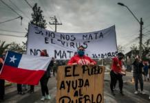 Protestas en La Pintana, Santiago. Fotografía: Nicole Kramm